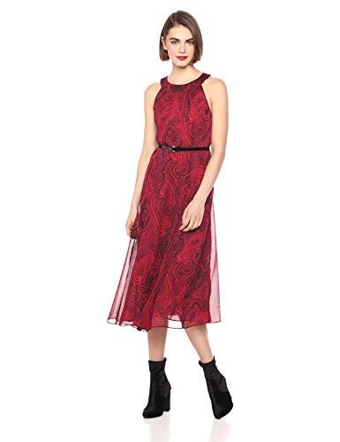 6f0505b1b4c Tommy Hilfiger Women's Coin Toss Chiffon Long Dresses - Midi Length ...